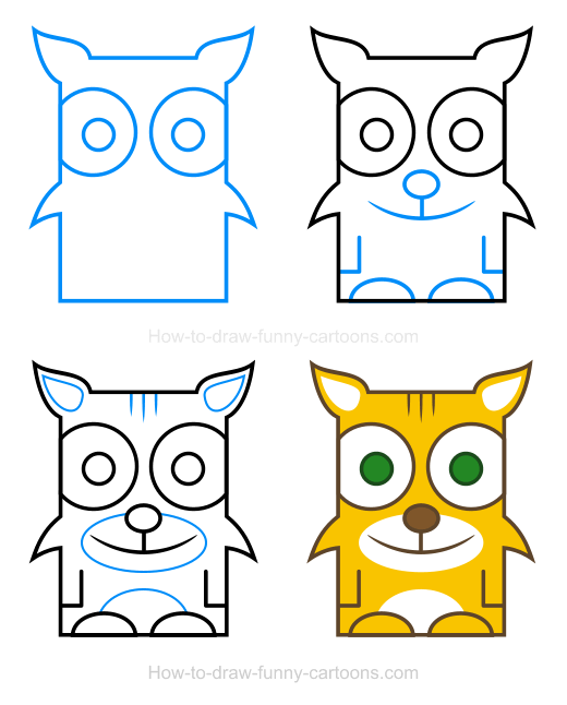 How to a. Bobcat clipart draw