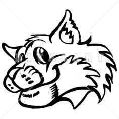 Mascot image of black. Bobcat clipart equipment bobcat