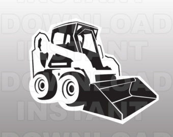 Svg etsy bulldozer file. Bobcat clipart equipment bobcat
