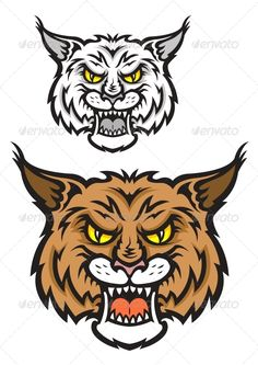 Bobcat clipart eyes. Mascot image of wildcats