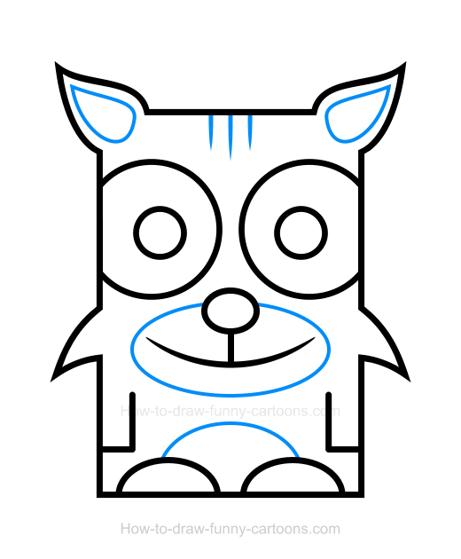 How to draw a. Bobcat clipart eyes
