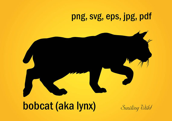 Bobcat clipart file. Svg silhouette lynx printable