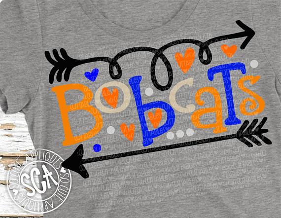 Bobcats svg football baseball. Bobcat clipart file
