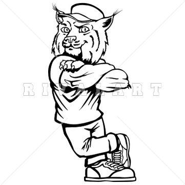 best clip art. Bobcat clipart friendly