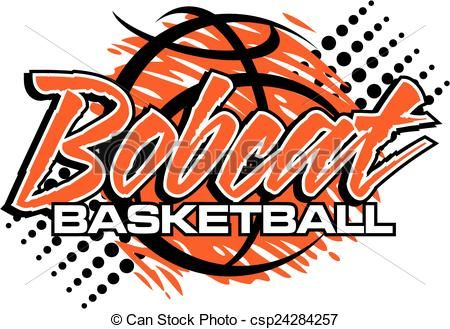Vector basketball stock illustration. Bobcat clipart icon