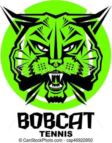 Bobcat clipart icon. Vector tennis stock illustration