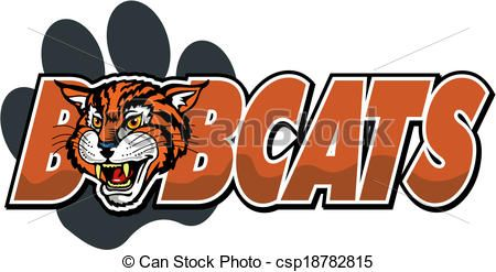 Bobcat clipart icon. Vector mascot stock illustration