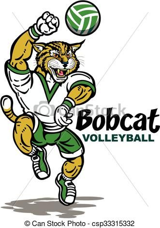 Bobcat clipart icon.  best volleyball designs