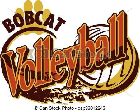 best volleyball designs. Bobcat clipart icon