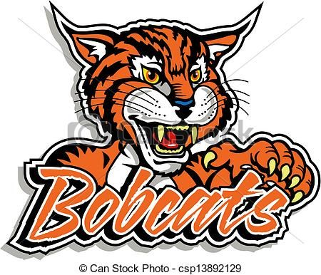 Vector cute with claw. Bobcat clipart icon