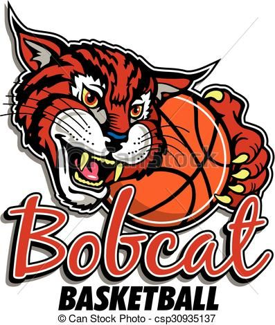 Mascot image of holding. Bobcat clipart icon