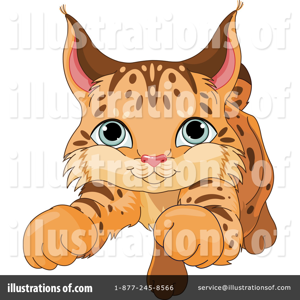 By pushkin . Bobcat clipart illustration