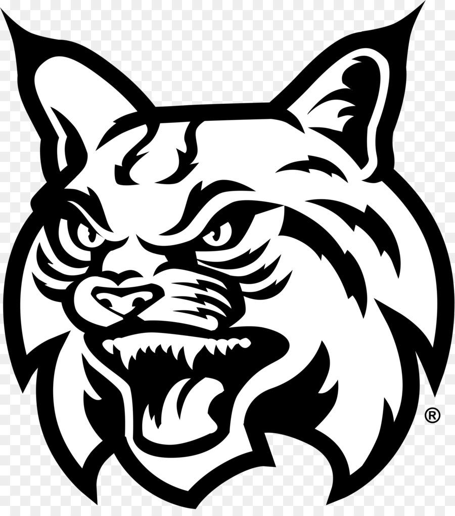 Cat and dog cartoon. Bobcat clipart line