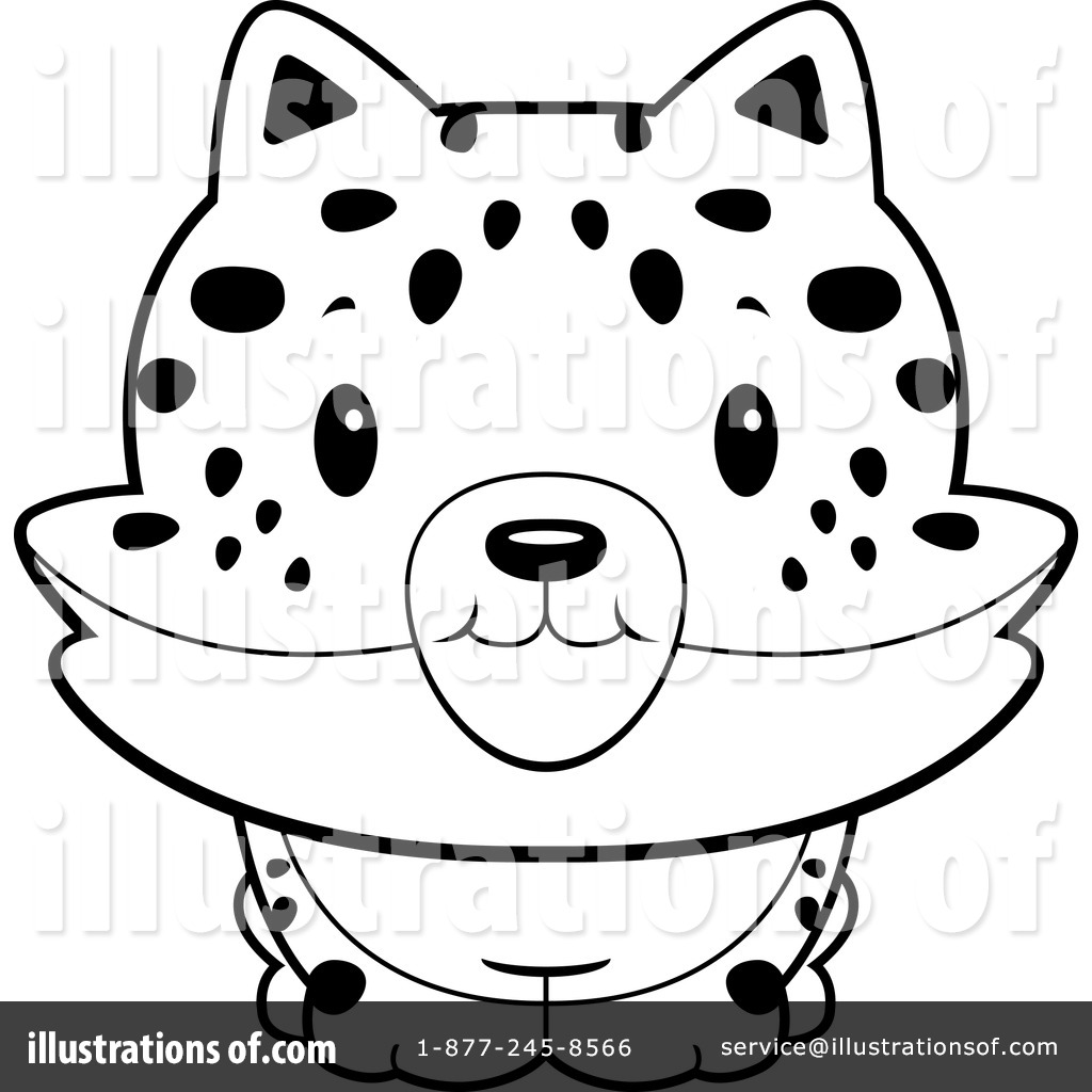 Illustration by cory thoman. Bobcat clipart lineart