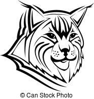 Bobcat clipart lineart. Drawn lynx cheetah pencil