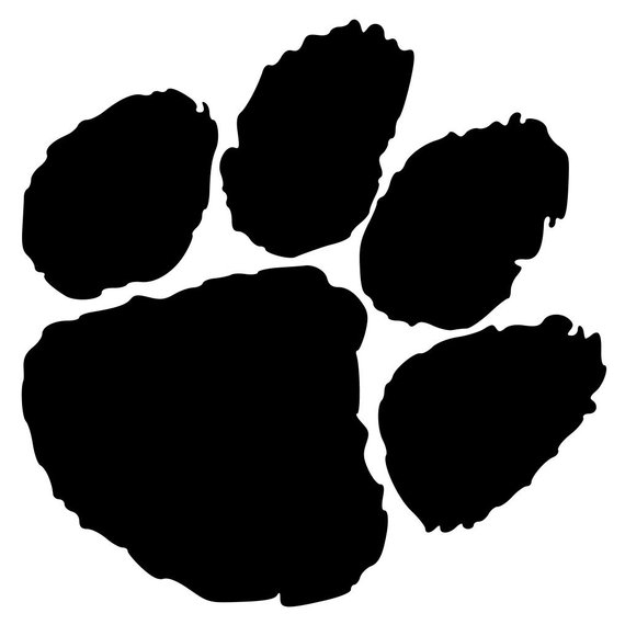Tiger paw svg cut. Bobcat clipart lion