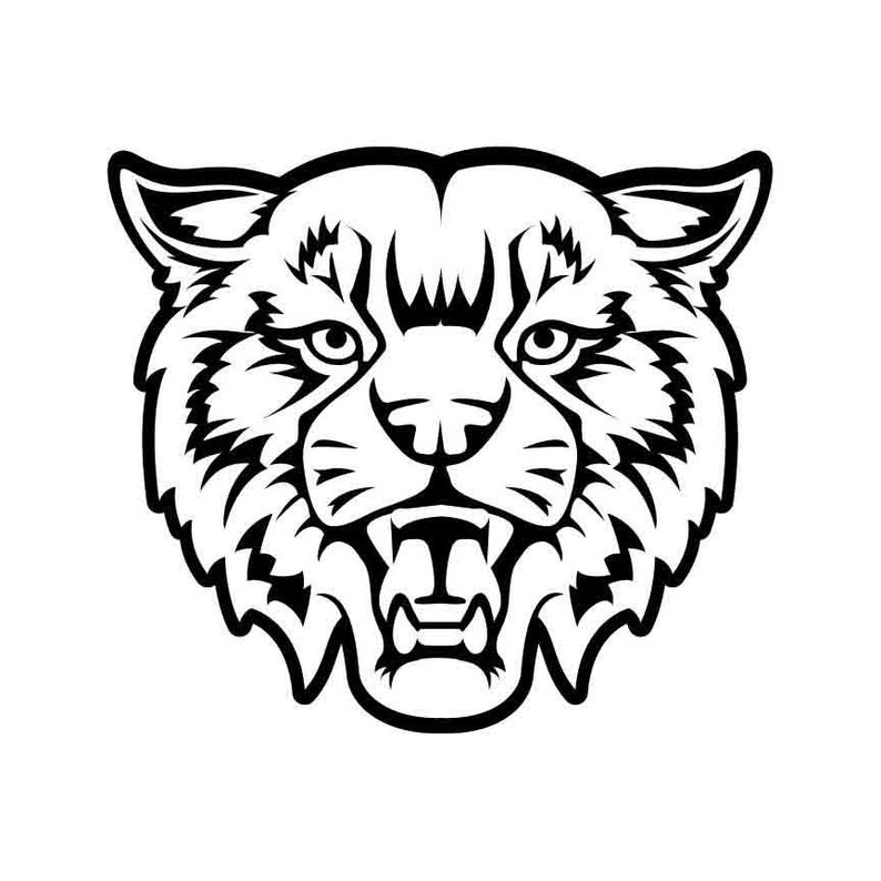 Mascot instant download vector. Bobcat clipart lion