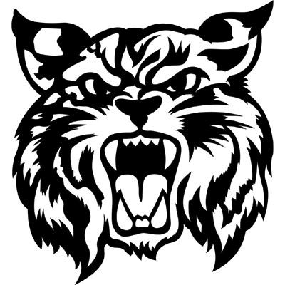 Mascot . Bobcat clipart logo
