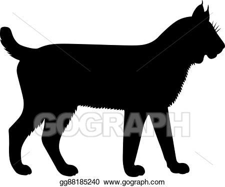Vector stock illustration gg. Bobcat clipart lynx