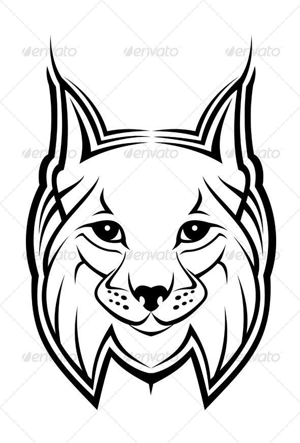 Mascot symbols and illustrators. Bobcat clipart lynx