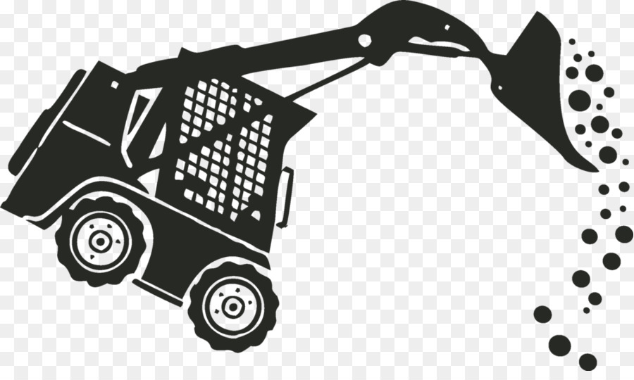 Bobcat clipart machine. Car cartoon white black