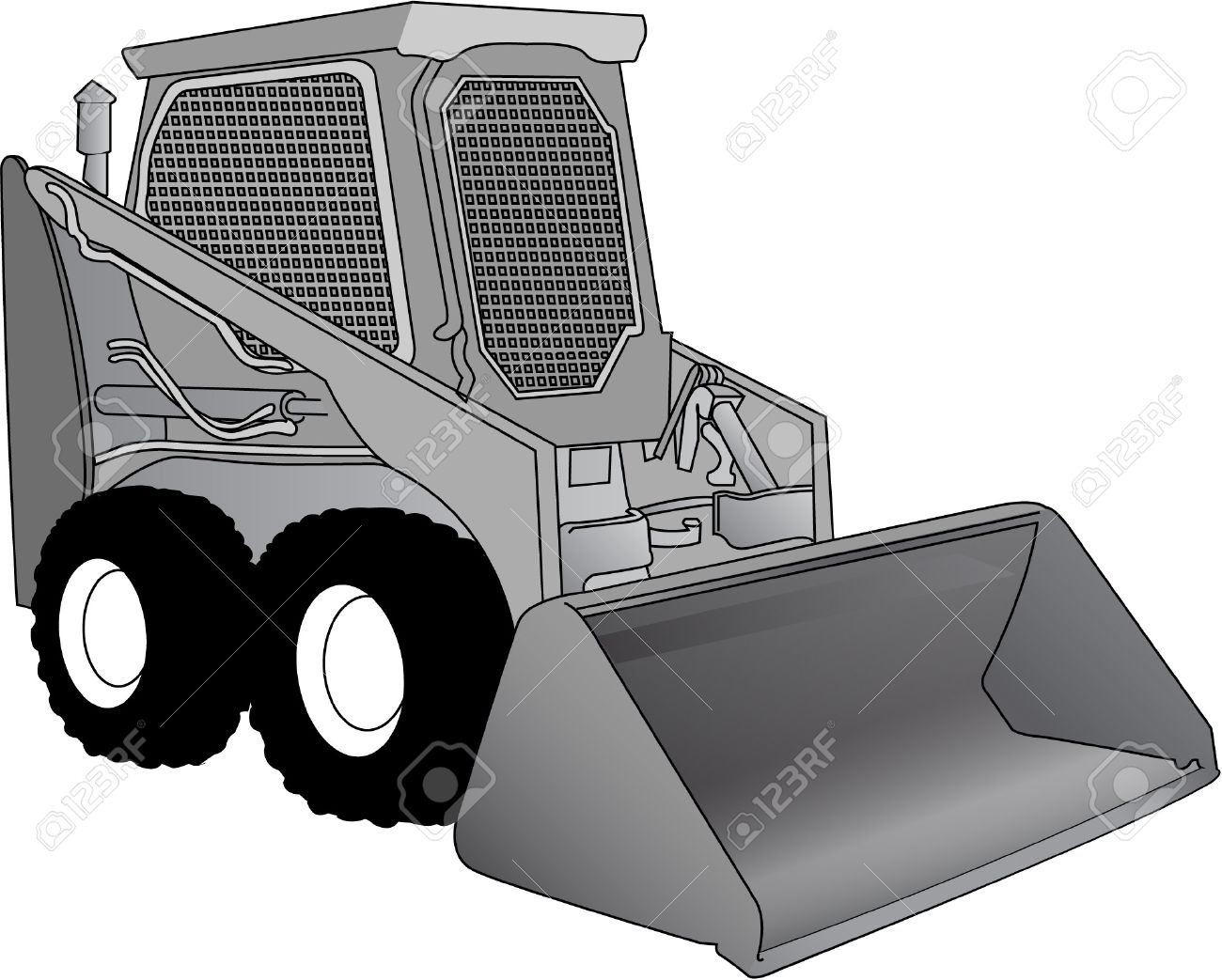 Bobcat clipart machine. Machinery pencil and in