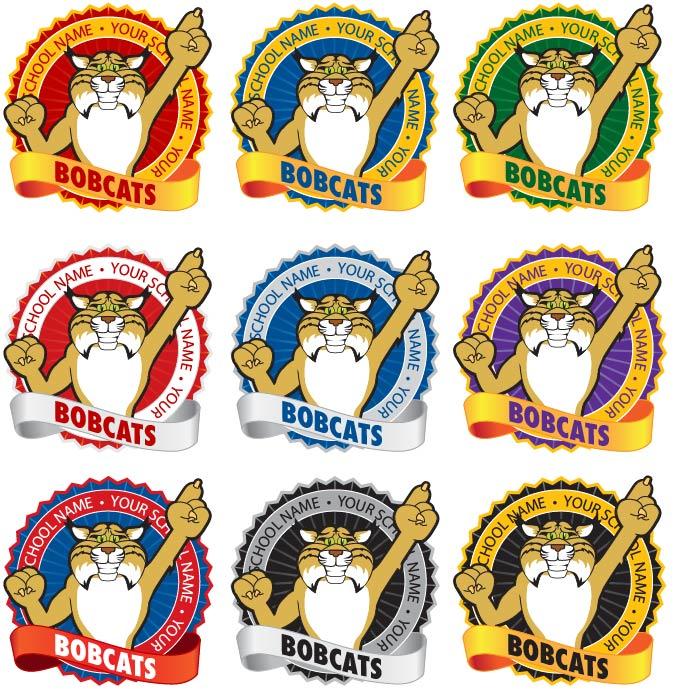 Bobcat clipart mascot. Junction kid friendly mascots
