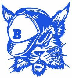 Image of black white. Bobcat clipart mascot