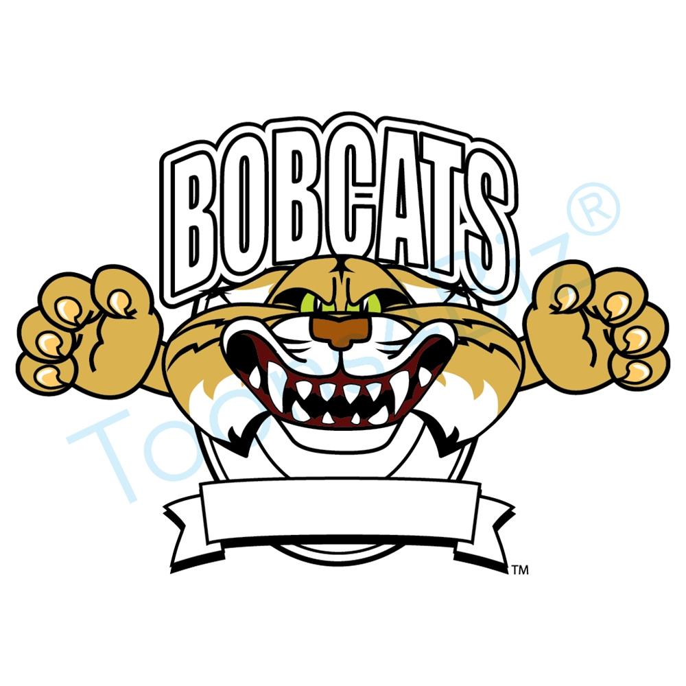 Clip art logo design. Bobcat clipart mascot