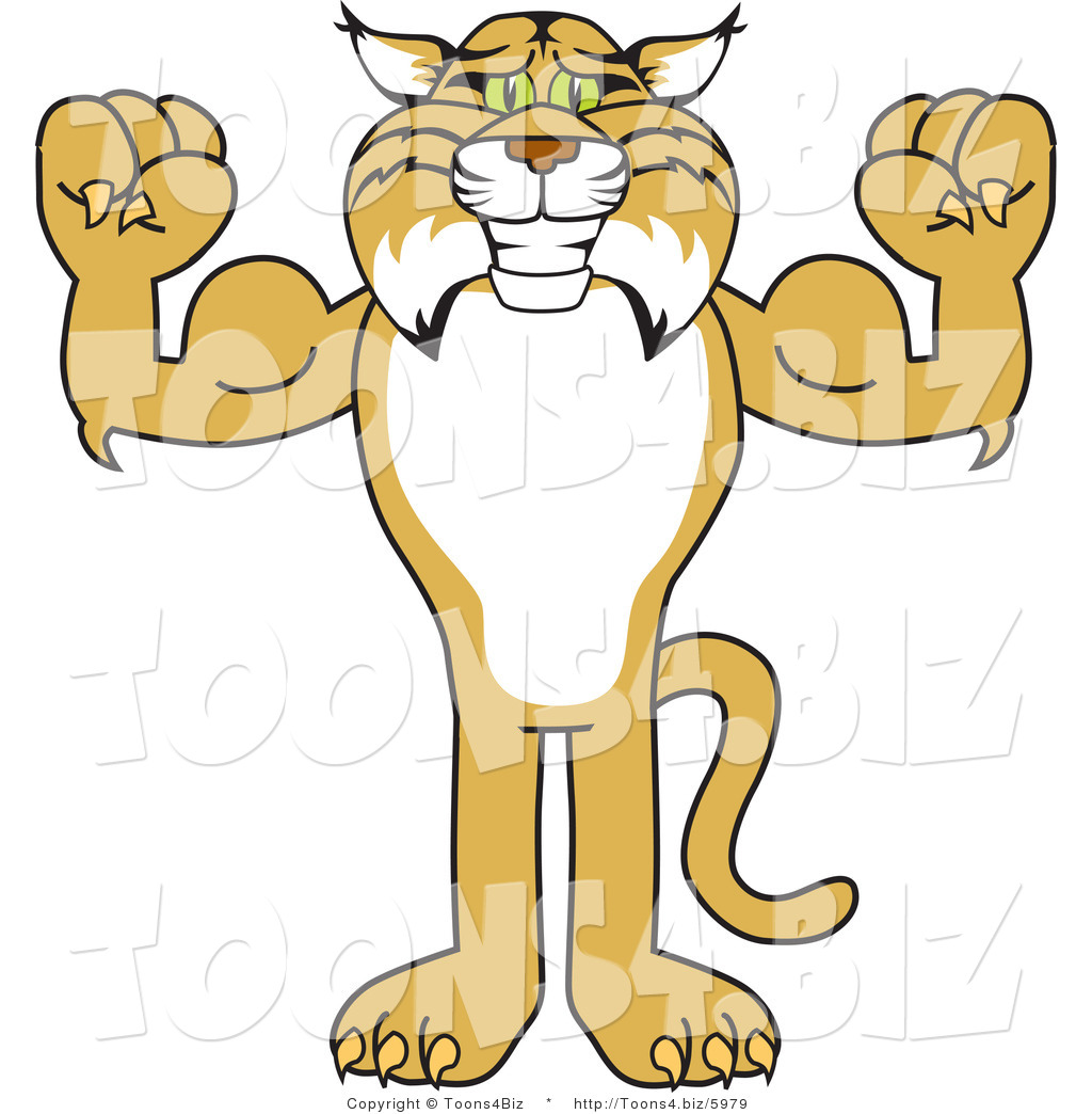 Bobcat clipart mascot. This stock image panda