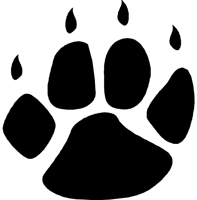 Download free png dlpng. Bobcat clipart paw print