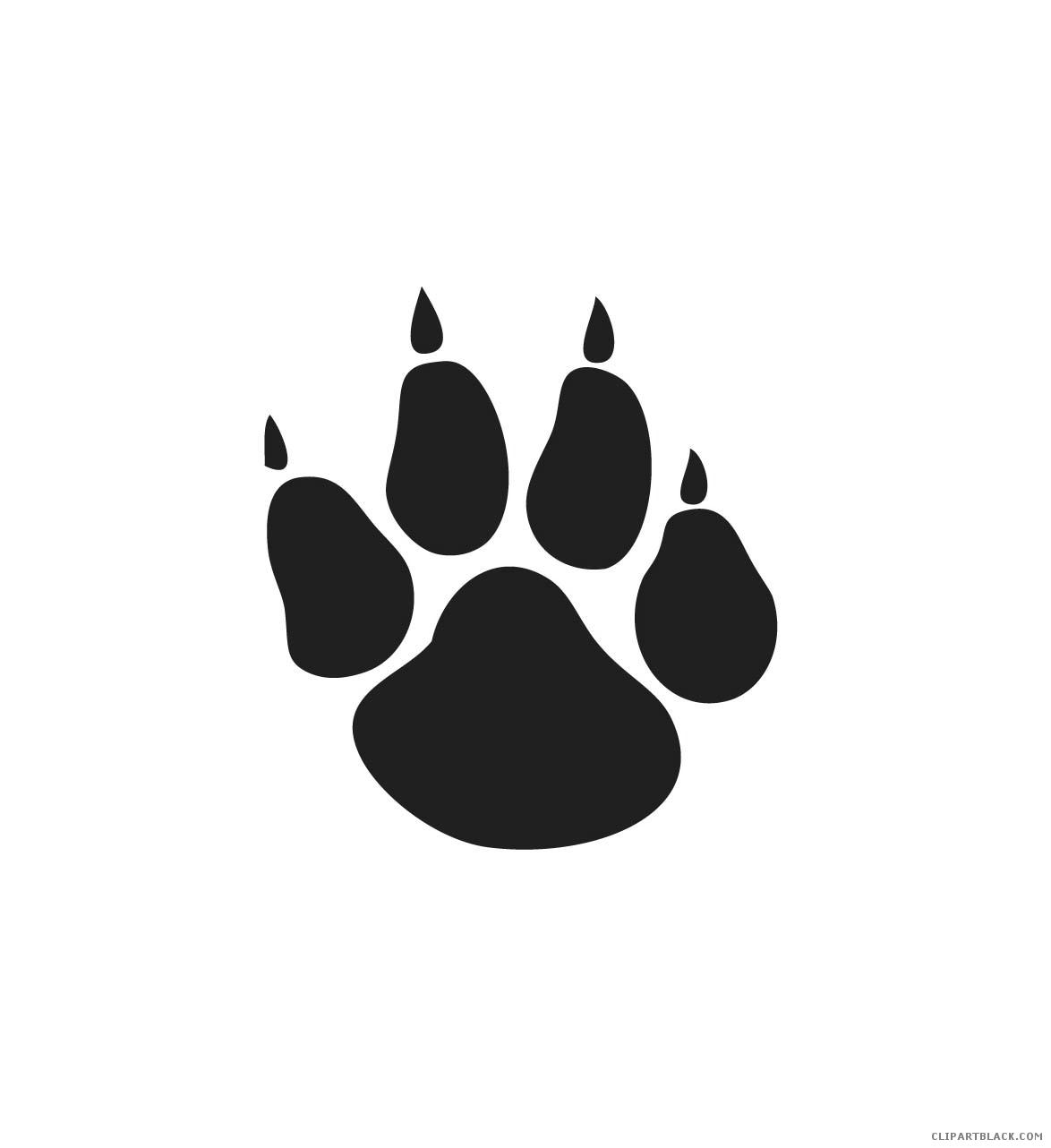 Bobcat clipart paw print. Animal free black white