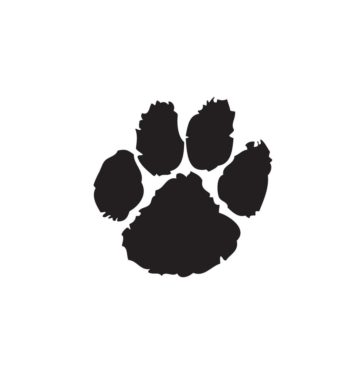 Double . Bobcat clipart paw print