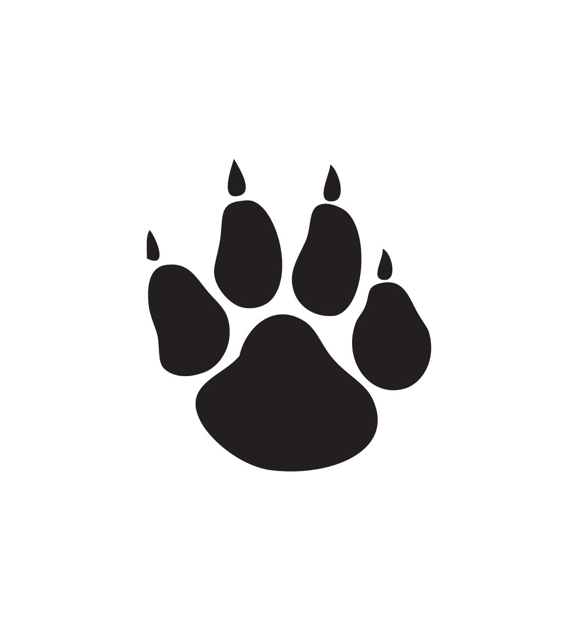 paw frees that. Bobcat clipart print