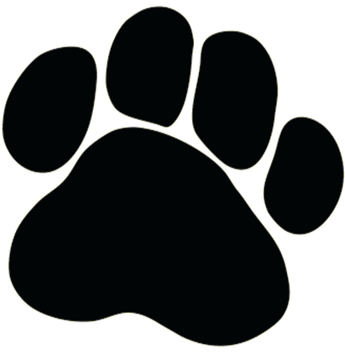 Bobcat clipart print. Printable paw prints dog