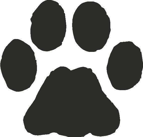 Bobcat clipart print. Paw clip art n