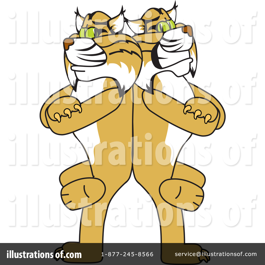 Mascot illustration by toons. Bobcat clipart school