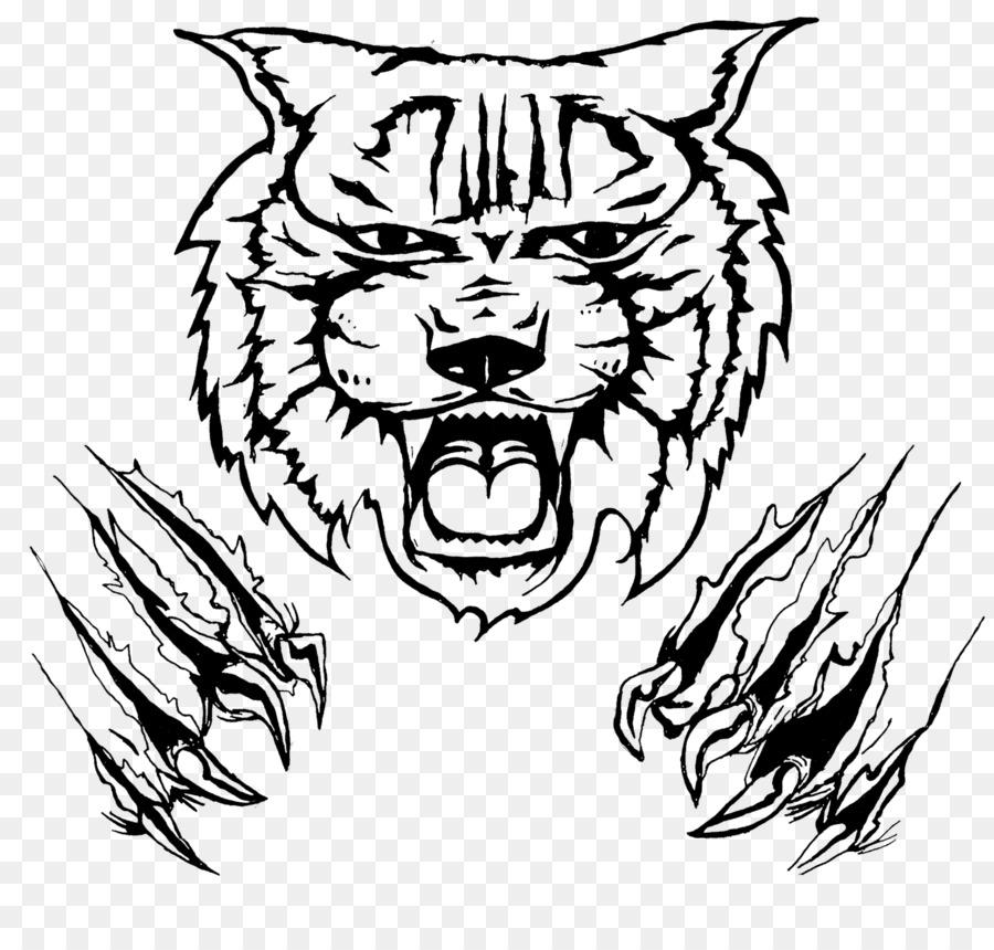 Bobcat clipart scratch. Wildcat drawing clip art
