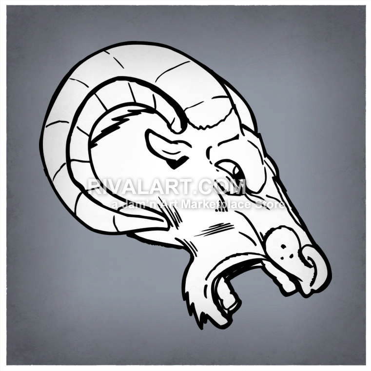 Bobcat clipart side view. Mad rams head vector