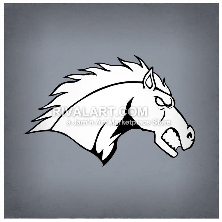 Mean horse graphic vector. Bobcat clipart side view