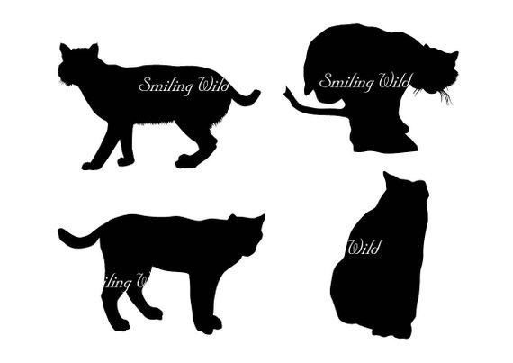 Bobcat clipart silhouette. Lynx art svg wildlife