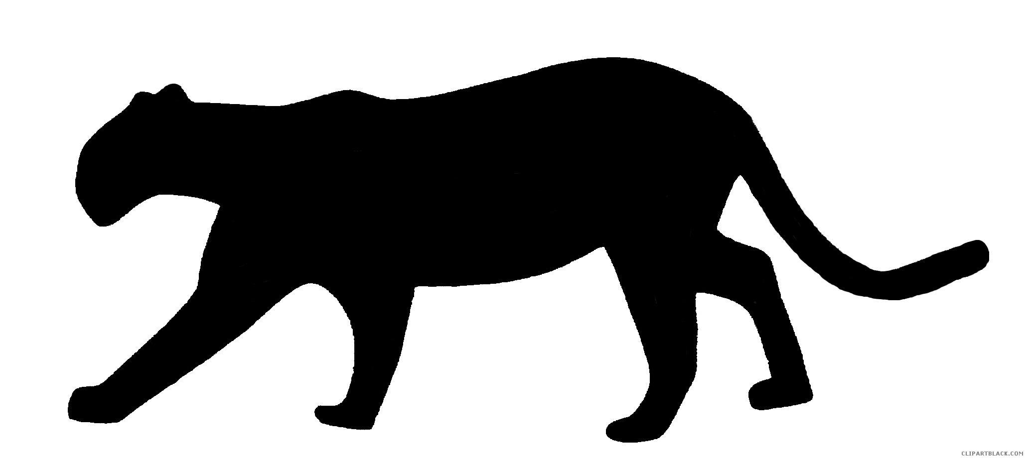 Bobcat clipart silhouette. Panther animal free black