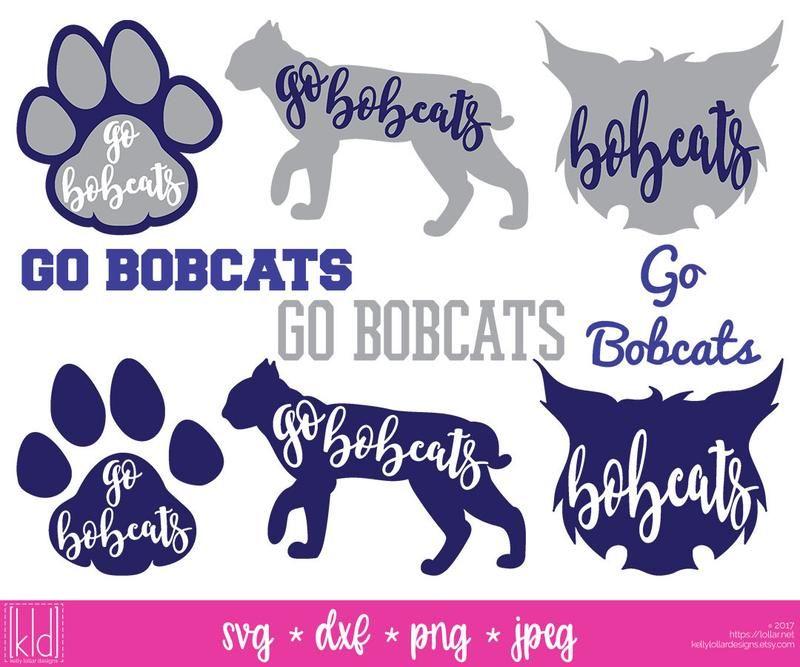 Bobcat clipart silhouette. Mascot pack silhouettes cricut