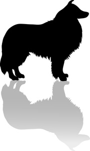 Bobcat clipart silhouette. Free collie clip art