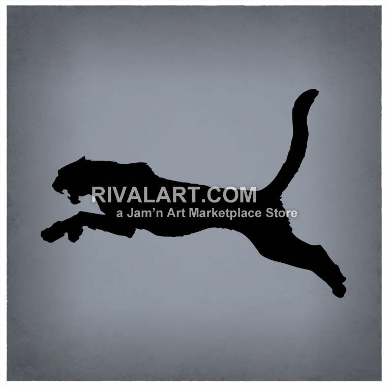Running cheetahs vector of. Bobcat clipart silhouette