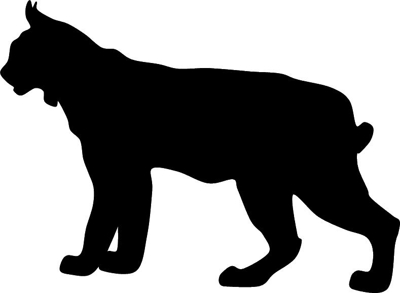 Boxer clip art lynx. Bobcat clipart silhouette