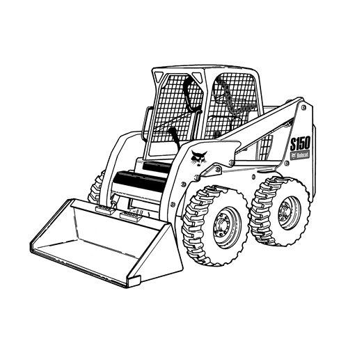 Free skid loader cliparts. Bobcat clipart skidsteer