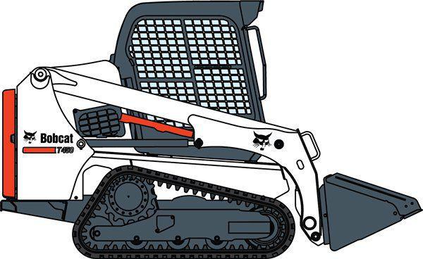 Compact tracked loader t. Bobcat clipart skidsteer