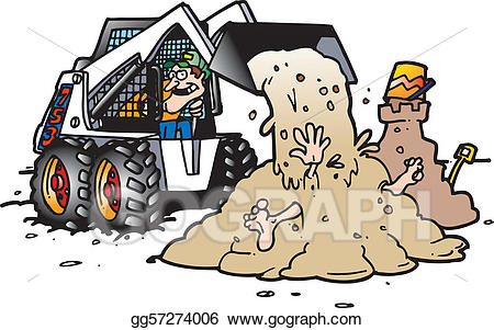 Bobcat clipart skidsteer. Vector illustration skid steer