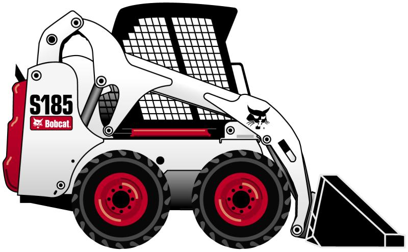 Skid steer silhouette at. Bobcat clipart skidsteer